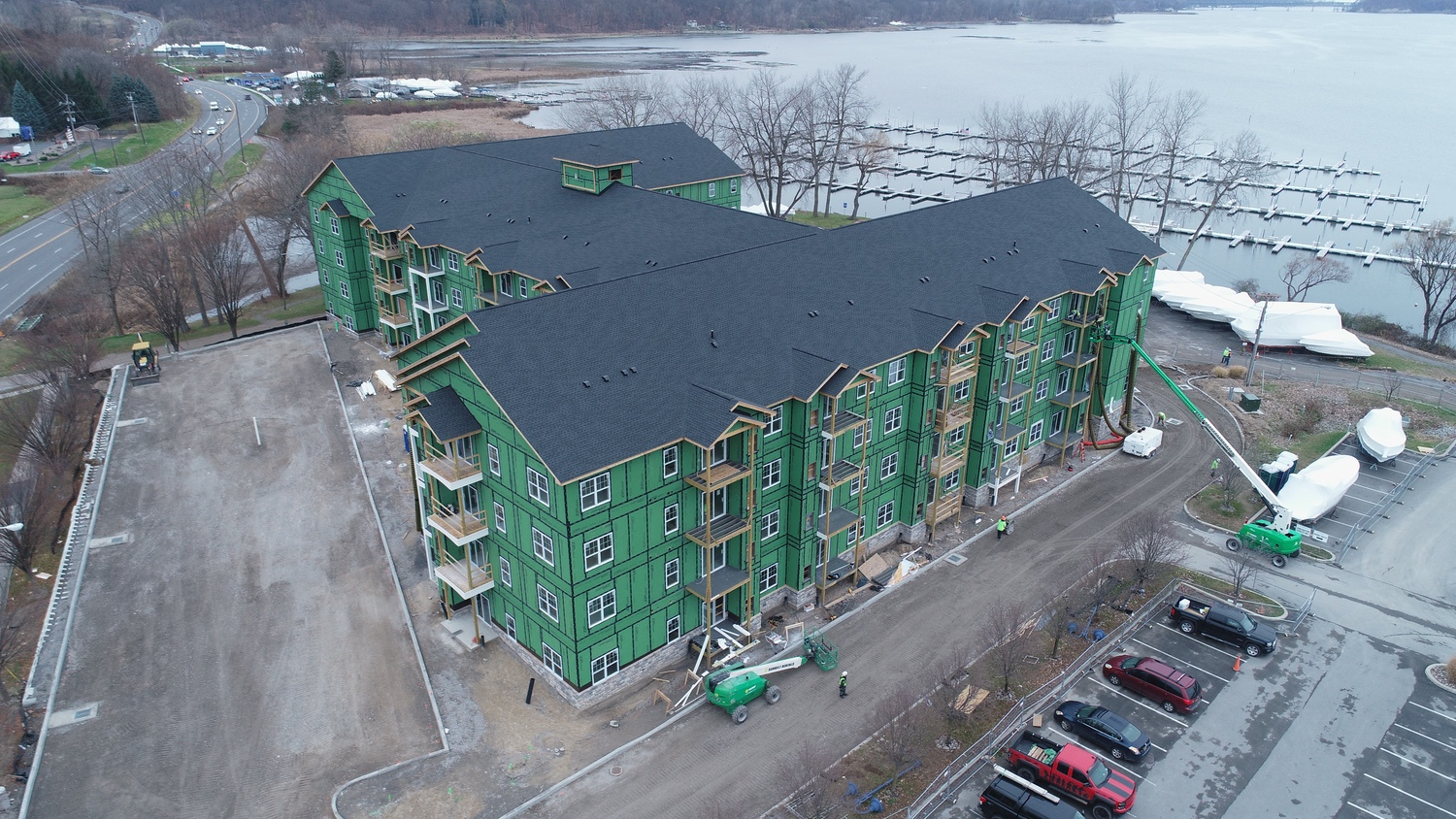Luxury Apartment Complex Shingle Roofing